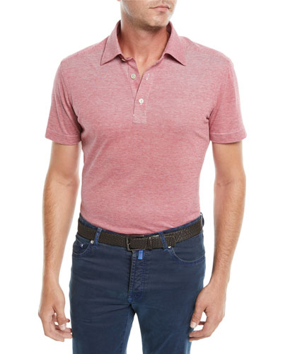 Men's Heathered Oxford Polo Shirt