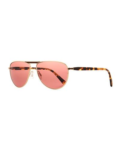 Gold Metal Frames Sunglasses   Neiman Marcus