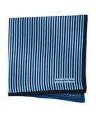 Ermenegildo Zegna Reversible 3D Box Silk Pocket Square,