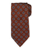 Ermenegildo Zegna Fancy Box Silk Tie, Rust Red
