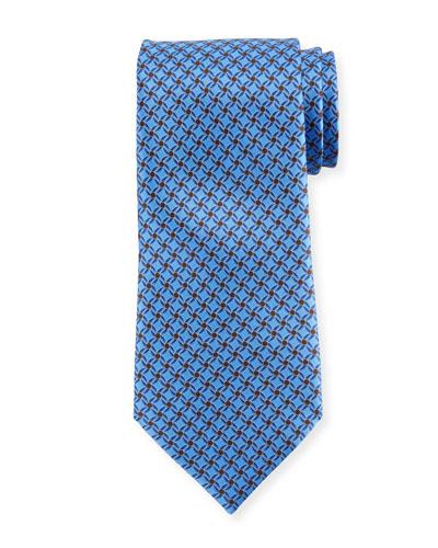 Printed Lattice Silk Tie