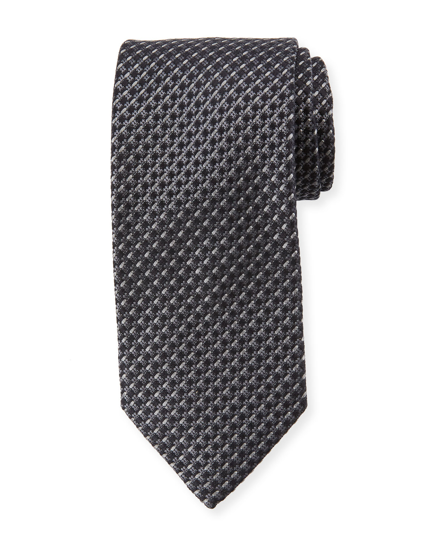 Basketweave Stripe Silk Tie