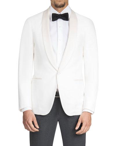 Men's Satin Shawl-Collar Dinner Jacket