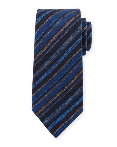 Multi-Stripe Silk Tie