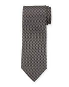 Salvatore Ferragamo Fiocco Gancini Printed Silk Tie, Black