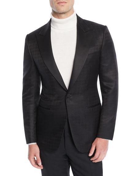 Ermenegildo Zegna Men's Tonal Check Dinner Jacket