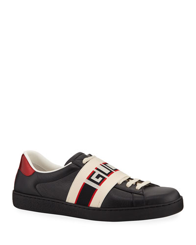 Leather and suede Web sneaker - Yellow & Orange Gucci llsqD6
