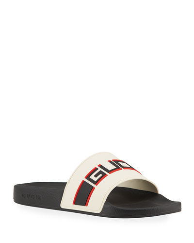 fcecfdecf7a Quick Look. Gucci · Gucci Stripe Rubber Slide Sandal. Available in Red