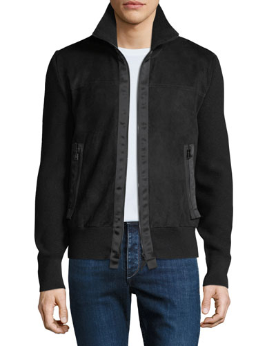 8d4cc92cc598 Quick Look. TOM FORD · Men's Suede Zip-Front Blouson Jacket. Available in  Black