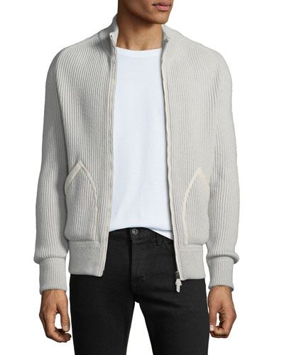 97ed43cfda0cc Quick Look. TOM FORD · Men's Ribbed Cashmere Zip-Front Fisherman Cardigan  Sweater