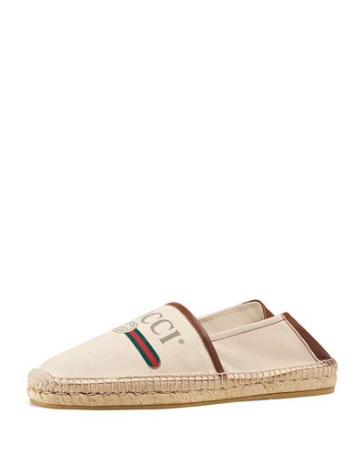 Gucci Logo Canvas Espadrille