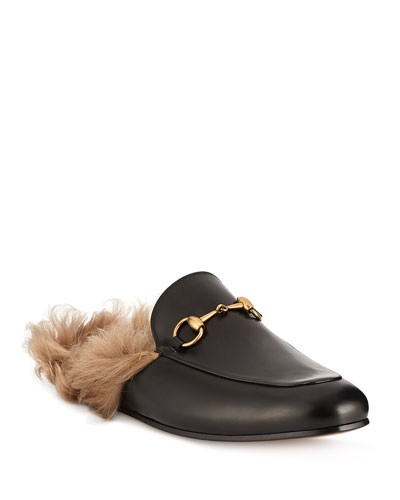 da424459e Quick Look. Gucci · Men s Princetown Fur-Lined Calf Leather Mule Slipper