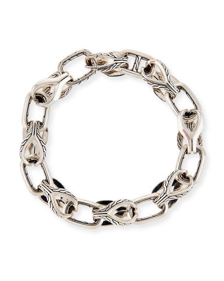 John Hardy Men's 11mm Classic Chain Silver Link Bracelet w/ Pusher Clasp