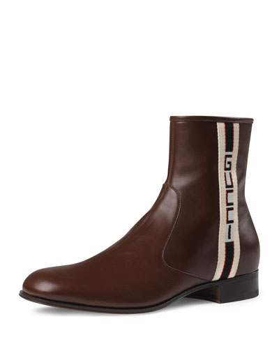 Gucci Stripe Leather Boot