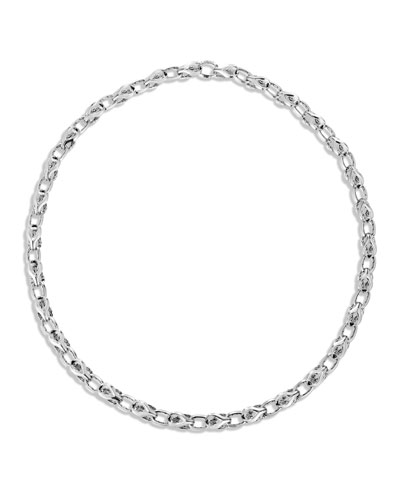 Men's Classic Chain Silver Link Necklace, 26