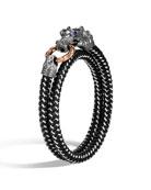 John Hardy Men's Legends Naga Bracelet w/ Nylon