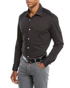 Kiton Men's Knit Long-Sleeve Sport Shirt