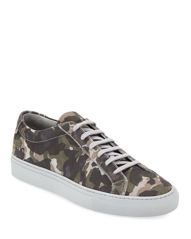 Achilles Camo Suede Low-Top Sneakers