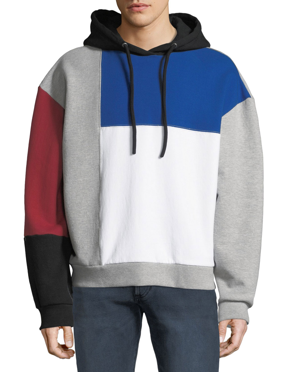 Men's Pieced Hoodie Sweatshirt