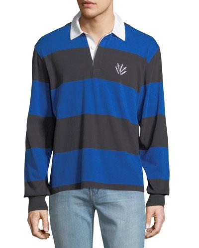 a4bff64d7 Blue Straight Hem Polo Shirt | Neiman Marcus