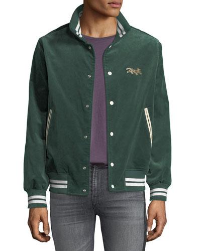 Men's Leopard Varsity Jacket
