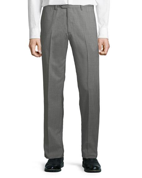 Giorgio Armani Men's Melange Wool Dress Pants