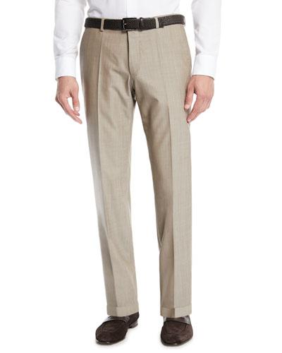 Men's Wool Straight-Leg Trousers