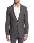 BOSS Men's Nestro Check Two-Piece Wool Suit