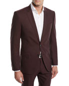 BOSS Men's Huge Genius Solid Slim-Fit Two-Piece Wool
