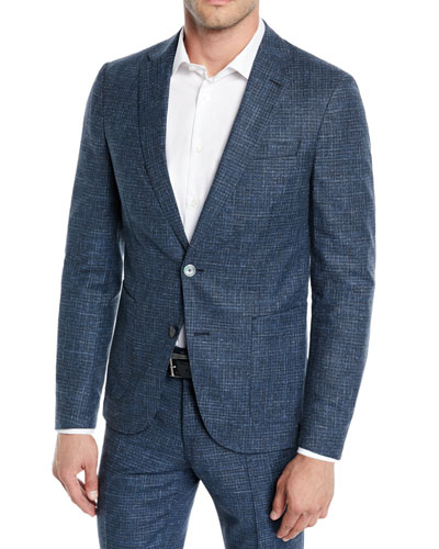 836098542 Hugo Boss Gray Wool Suit   Neiman Marcus