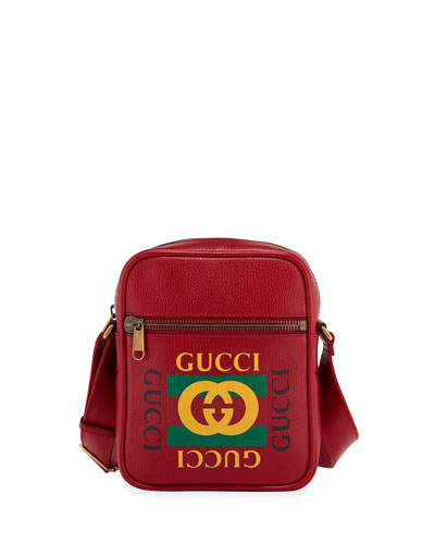 ef4b655bc0c6 Quick Look. Gucci · Men s Retro Leather Crossbody Bag. Available in Red