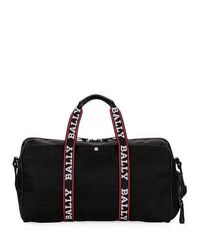 Men's Darcy S0 Logo-Tape Nylon Duffel Bag