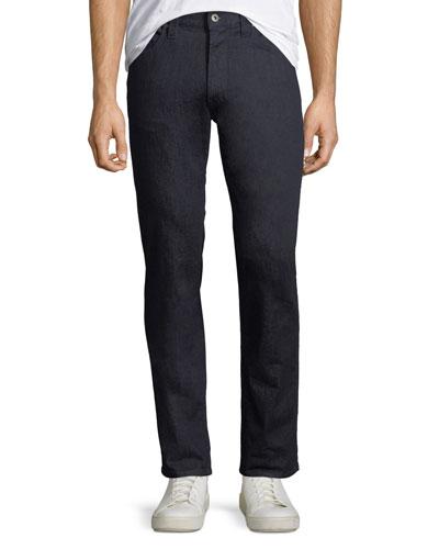 Men's Stretch-Denim Jeans with Tonal Stitching