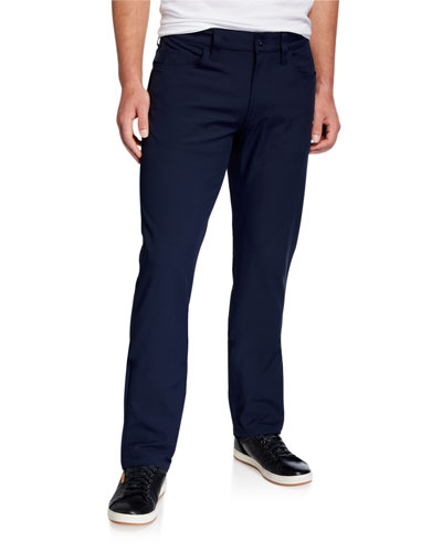 Men's Techno-Stretch Straight-Leg Pants