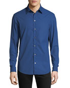 Emporio Armani Men's Hexagon-Pattern Sport Shirt