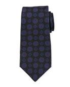 Kiton Antique Medallion Silk Tie