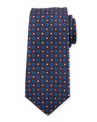 Kiton Flower Circle Silk Tie