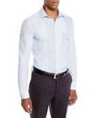 Men's Striped Pieced Sport Shirt