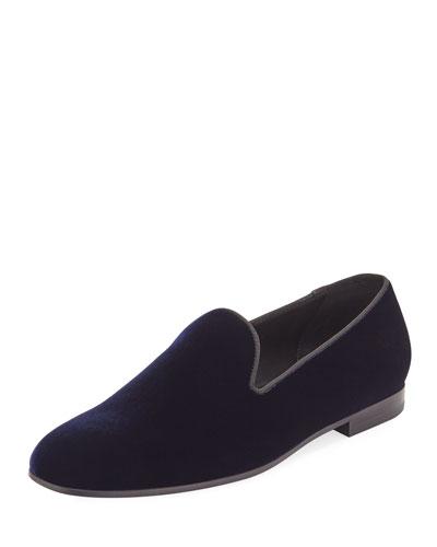 Men's Formal Velvet Round-Toe Slippers