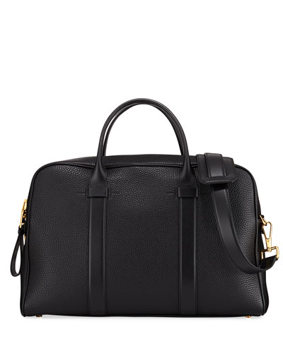 Men's Leather Document Briefcase