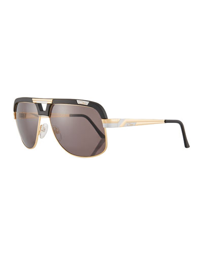 Men's Acetate/Metal Aviator Sunglasses