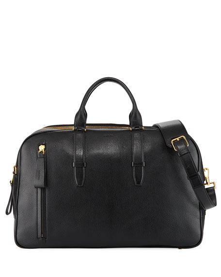 TOM FORD Men's Leather Duffel Weekender Bag