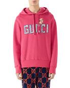 Gucci Logo-Patch Pullover Hoodie Sweatshirt