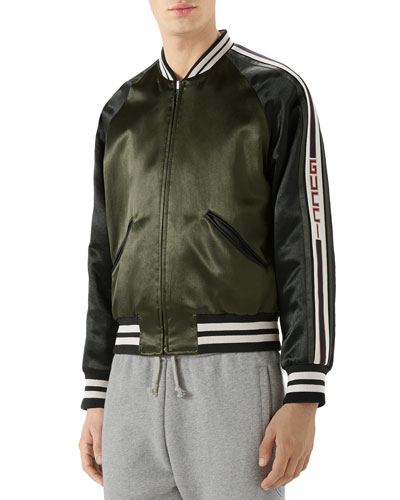 Raglan-Sleeve Varsity Jacket