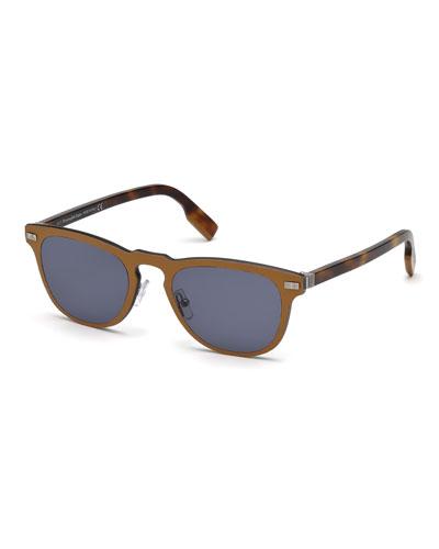 Men's Metal Rimmed Keyhole Sunglasses