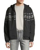 Just Cavalli Men's Grommet-Detail Zip-Front Hoodie Sweatshirt