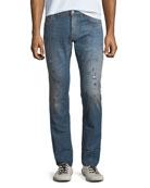 Just Cavalli Men's Slim-Fit Paint-Splattered Jeans
