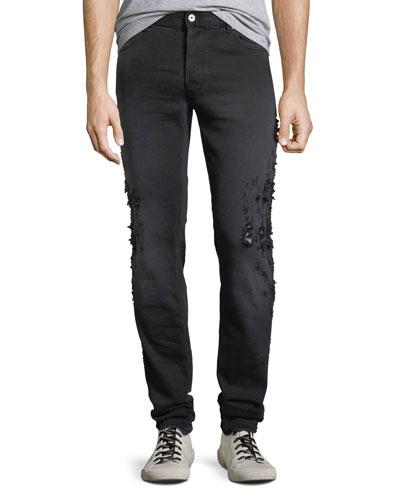 Men's Slim-Fit Destroyed Jeans