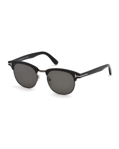d37b09fcd8df Quick Look. TOM FORD · Men s Half-Rim Metal Acetate Sunglasses - Silvertone  Hardware. Available in Black