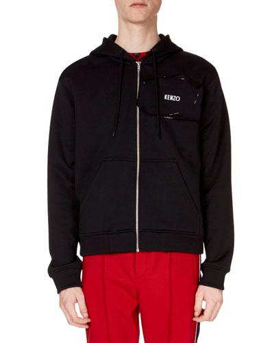 Men's Back-Graphic Zip-Front Hoodie Sweatshirt
